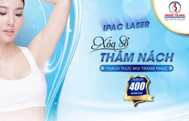 """Ipac laser: Đánh bật thâm nách – Tự tin phá cách với vùng """"cánh"""" sáng mịn"""