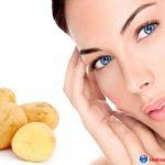 Trị thâm quầng mắt bằng khoai tây