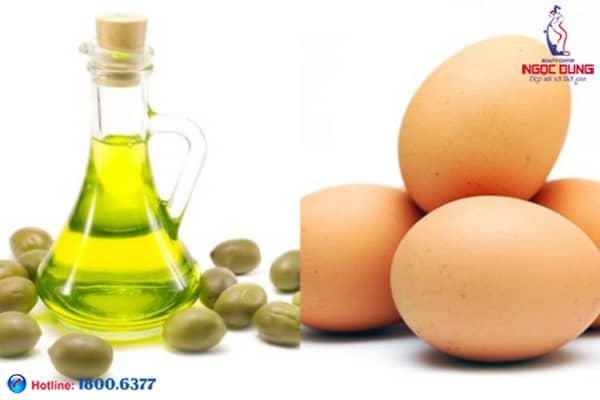 Trị thâm quầng mắt abừng trứng gà và oliu