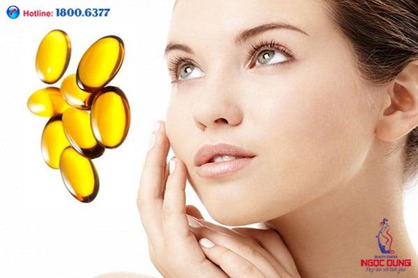 Trị thâm quầng mắt bằng vitamin e