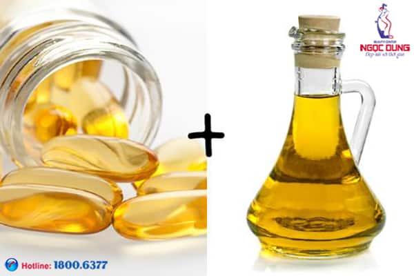 Vitamin e và dầu dừa trị thâm quầng mắt