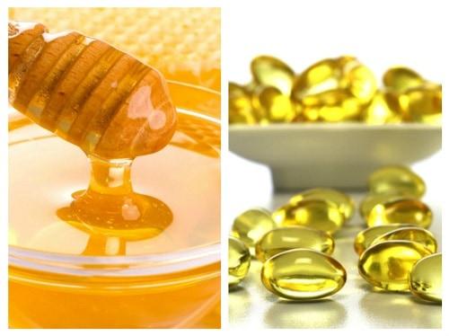 Vitamin e và mật ong trị thâm mắt
