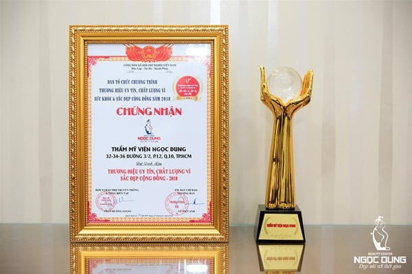 Thẩm mỹ viện Ngọc Dung nhận giải thưởng sức khỏe và sắc đẹp
