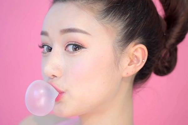 Đẹp hút mắt với mẫu xăm lông mày ngang phong cách Hàn Quốc