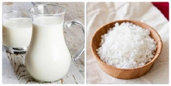 Trị thâm mông bằng muối và sữa dê