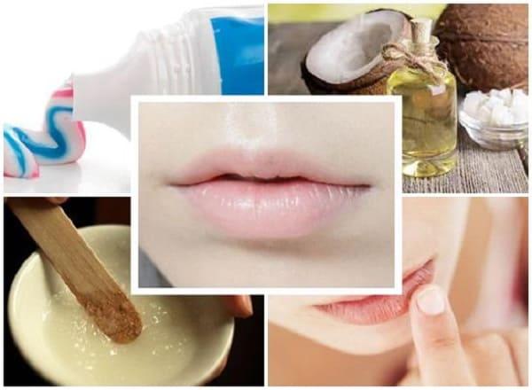 Trị thâm môi bằng kem đánh răng và dầu dừa