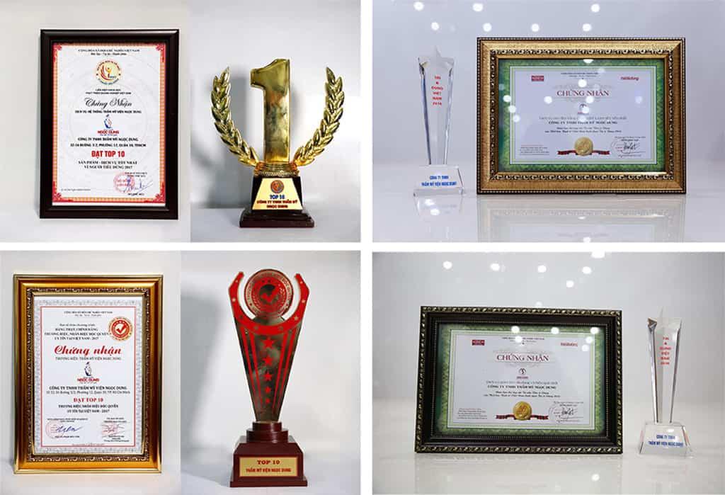 Giải thưởng danh giá của TMV Ngọc Dung vì Phụ nữ Việt Nam trong nhiều năm qua