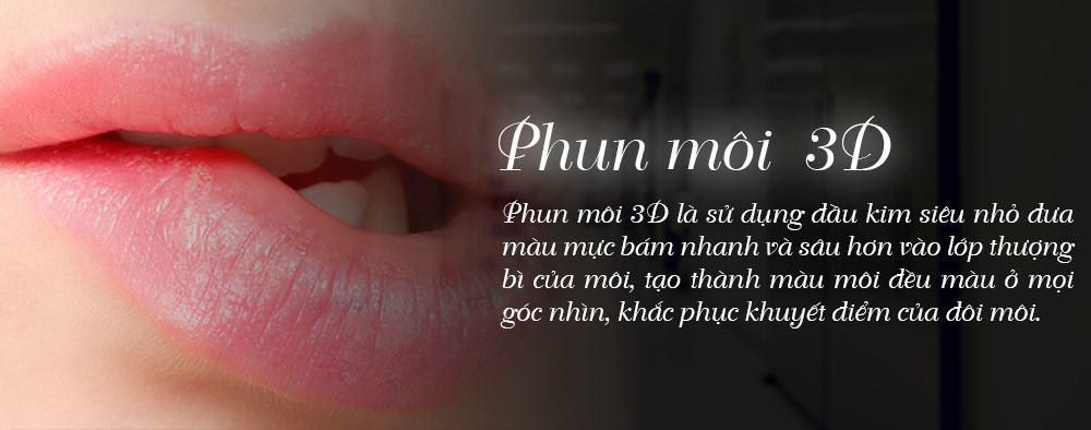 phun môi 3d