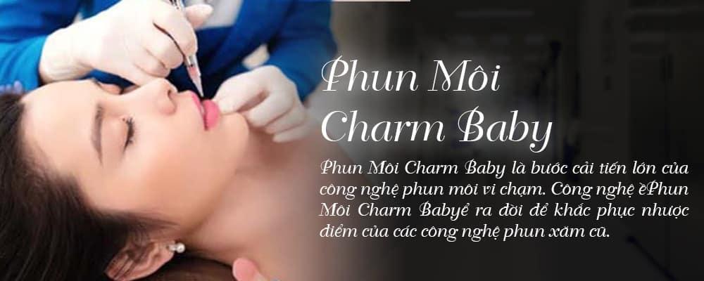 phun môi charm baby