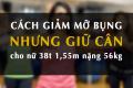 Cẩm nang: giảm mỡ bụng nữ nhưng giữ cân