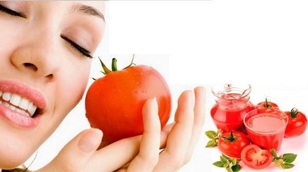 Thu nhỏ lỗ chân lông bằng nước ép cà chua