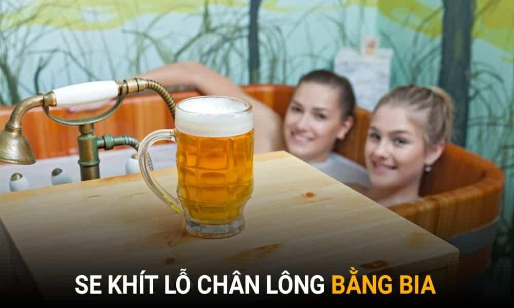 Trị lỗ chân lông to tại nhà bằng bia