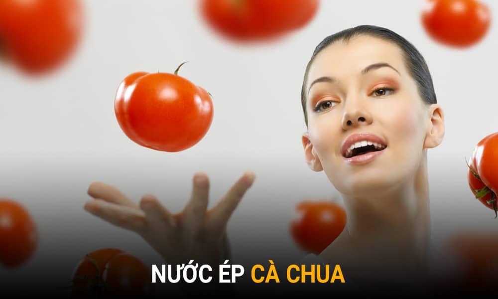 Trị lỗ chân lông to tại nhà bằng cà chua