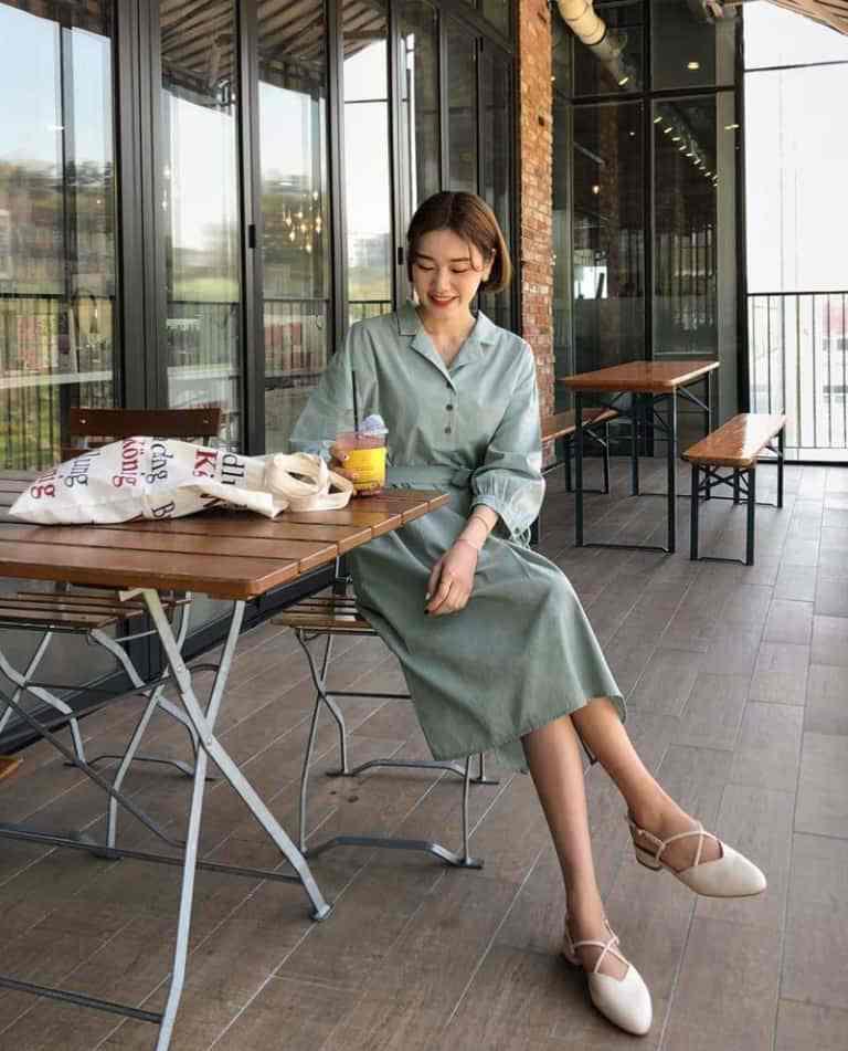 mẫu váy liền thân cho cô nàng công sở