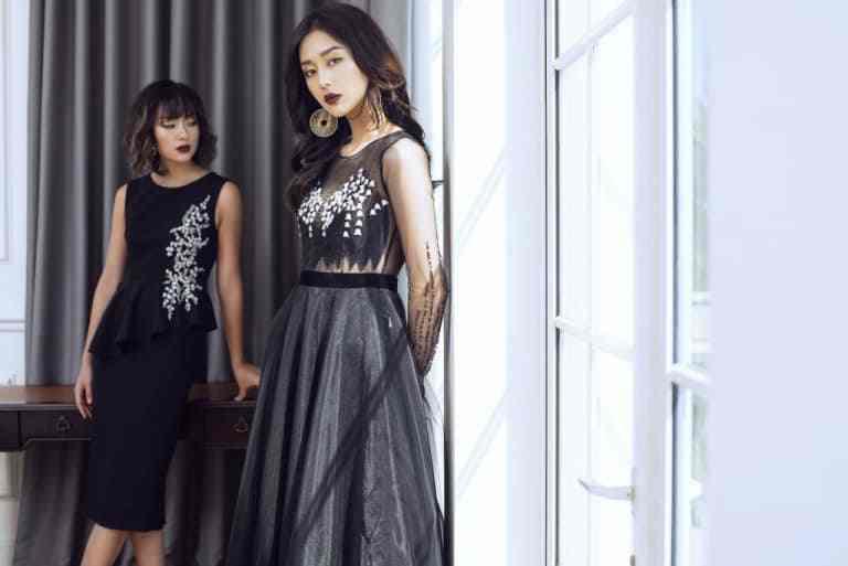 sang trọng hơn với kiểu đầm ren màu đen quý phái cho phụ nữ 25 đến 34