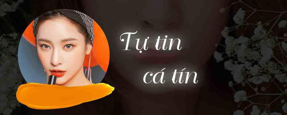 phun môi màu cam neon 1
