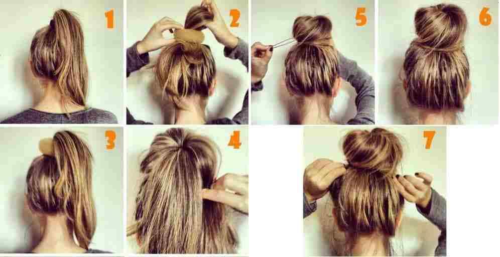 quấn tóc với dây chun