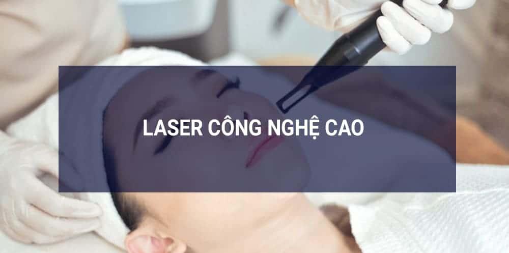 Trị lỗ chân lông to mụn đầu đen bằng laser