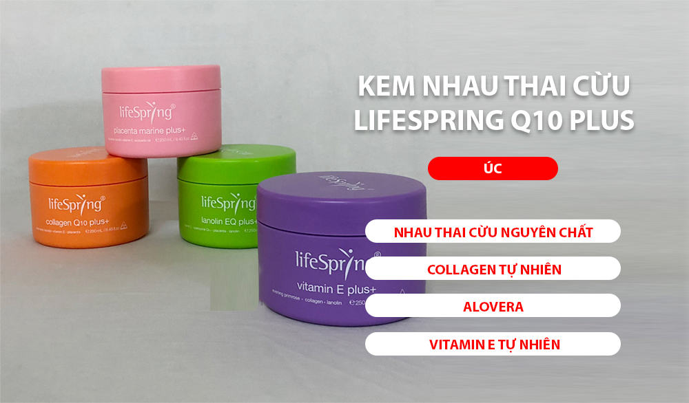 kem nhau thai cừu LifeSpring Q10 Plus Collagen