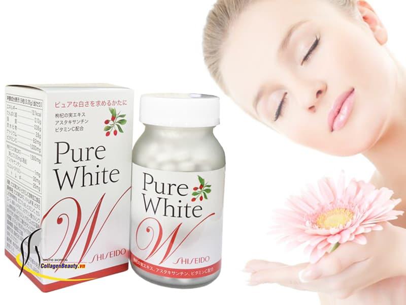 viên uống trắng da pure white