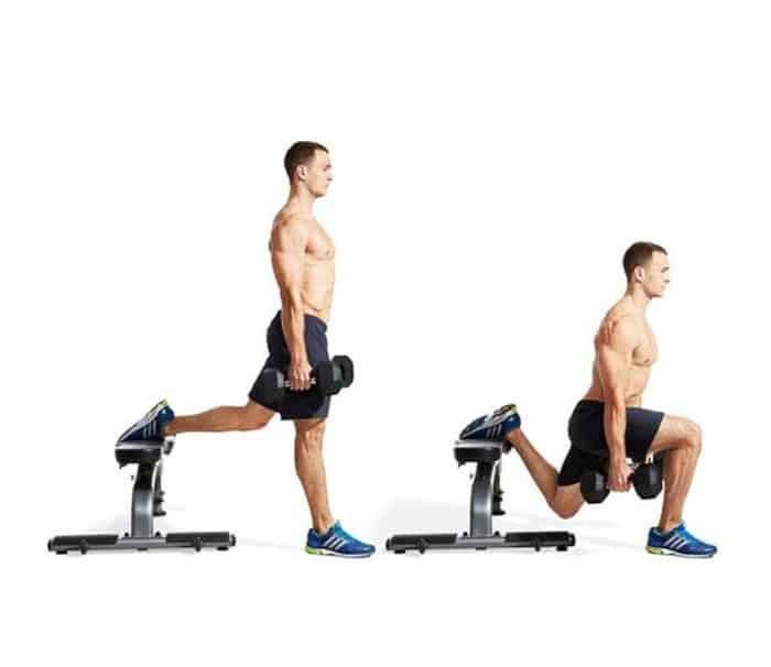 Bài tập cơ chân squat Bulgary