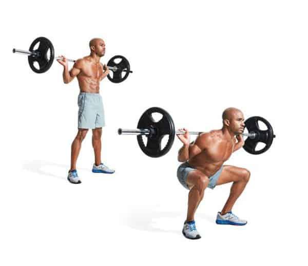Bài tập cơ chân squat