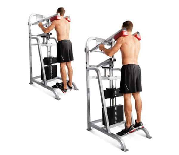 Bài tập nâng bắp chân đứng thẳng