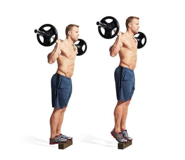 Bài tập nâng bắp chân tạ đơn
