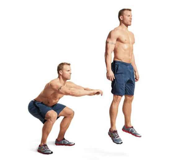 Bài tập squat nhảy
