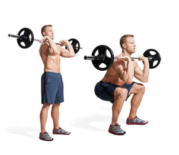 Bài tập squat phía trước