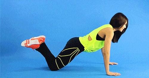 động tác knee push up