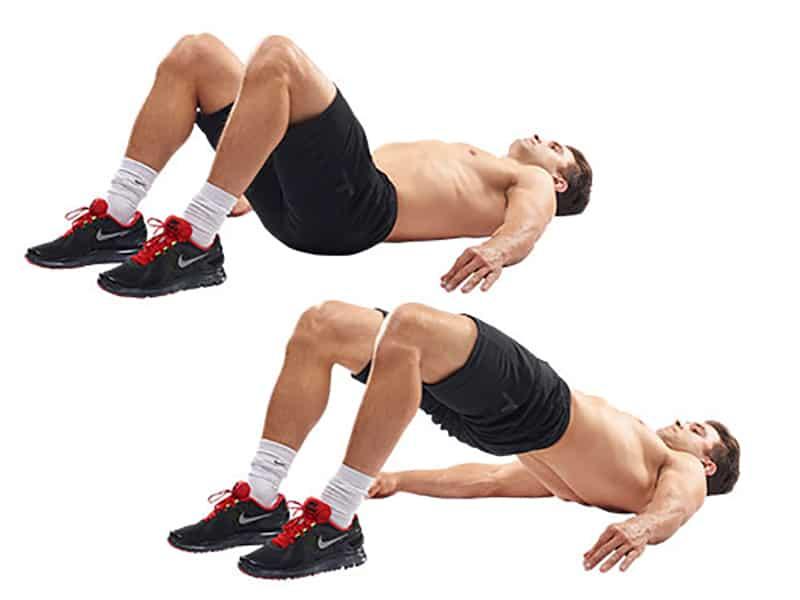 Động tác nâng mông nằm ngửa