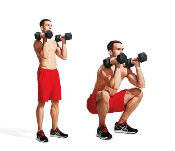 Bài tập squat hạ tay