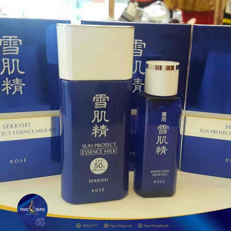 kose sekkisei sun protect essence milk spf50