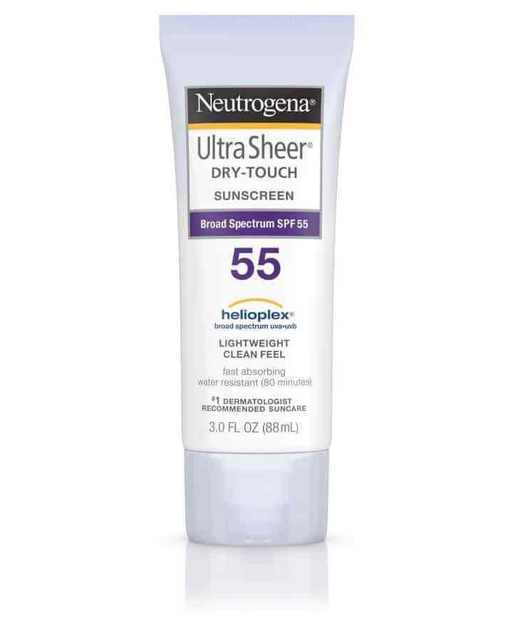 neutrogena ultra sheer dry touch spf55