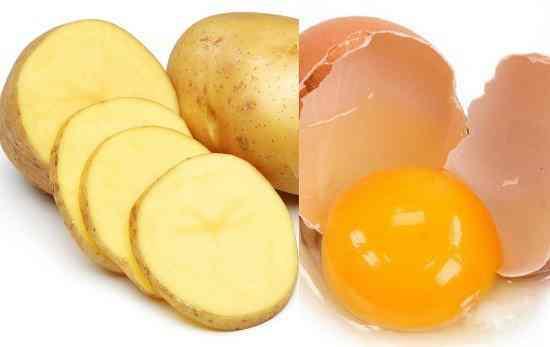 khoai tây và trứng gà 1