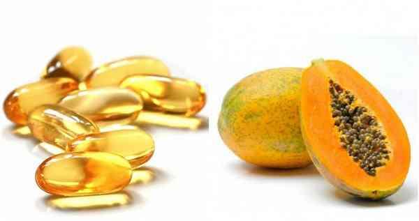 mặt nạ đu đủ và vitamin e 1
