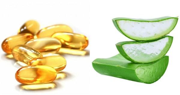 mặt nạ bằng nha đam và vitamin e