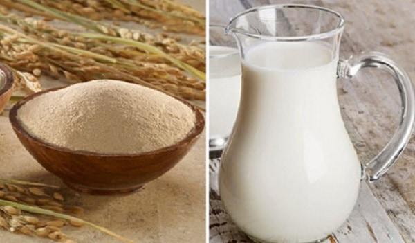 tẩy da chết bằng cám gạo và sữa chua