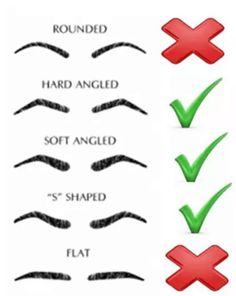 các dạng lông mày cho mặt tròn
