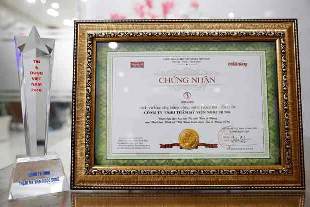 giải thưởng thương hiệu hàng đầu về giảm mỡ tại việt nam