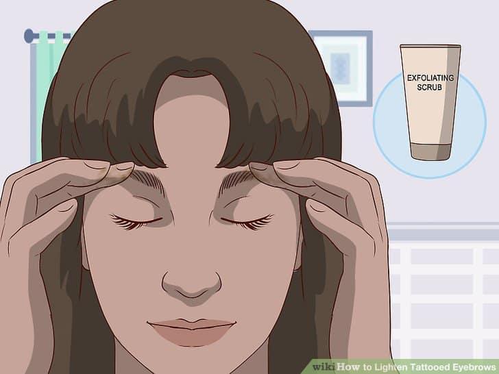 tẩy tế bào chết cho lông mày của bạn sau khi chúng lành hẳn