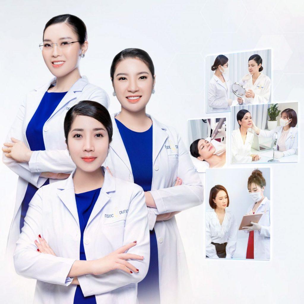 Bộ 3 chuyên gia chăm sóc sắc đẹp tại Thẩm mỹ viện Ngọc Dung